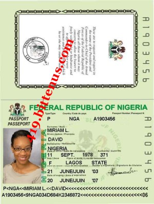 Miriam david int'l passport copy