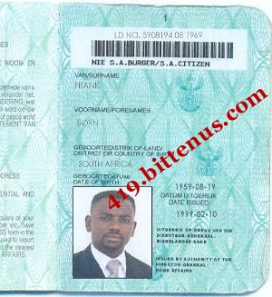 south african drivers license card