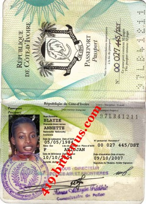 PASSPORT ANNETTE