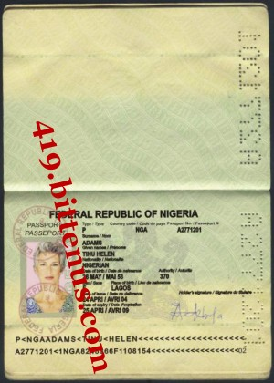 TINU'S PASSPORT