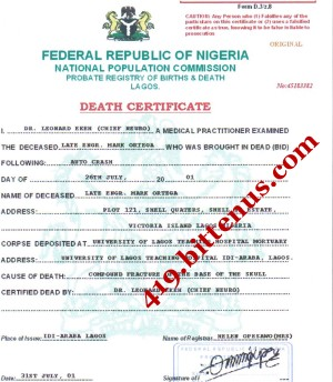 Death certificates nigeria national population commission nigeria mark ortega yadclub Gallery