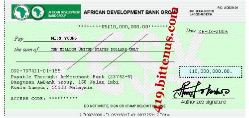 African Development Bank Group, $10,000,000