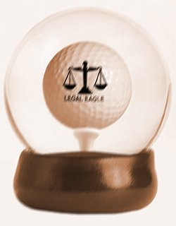 Lawyer Gift: Fun Gift for Your Lawyer & Golfer:  Water Globe