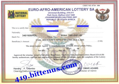 Euro-Afro-American-Lottery