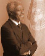 KOFI A. ANNAN of Ghana ,   the seventh Secretary-General of the United Nations
