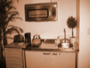 Room 203 - the kitchenette